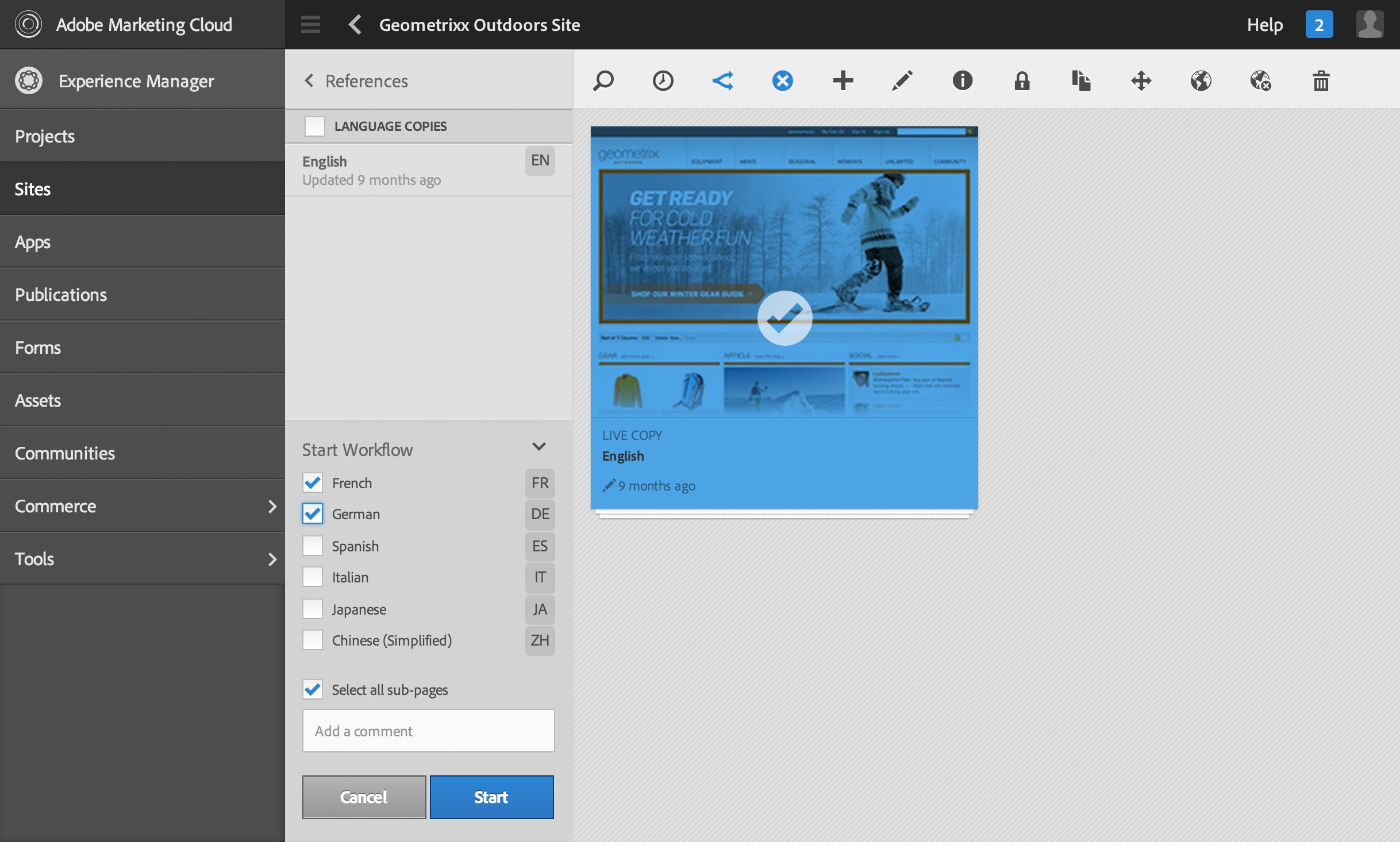 Automate translation workflows across multiple language sites in Adobe Experience Manager; helps marketers reach global audiences faster across channels. (Graphic: Business Wire)