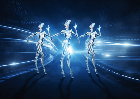 Alien kickline | Illustration by Manfred Thierry Mugler | Drawings (c) Stefano Canulli (Photo: Business Wire)