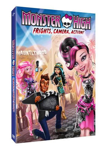 Today, Monster High(TM) launches its 4th direct-to-DVD release - Monster High(TM): Frights, Camera, Action! - with new monsterfied characters and a scary-cool new plot! (Photo: Business Wire)