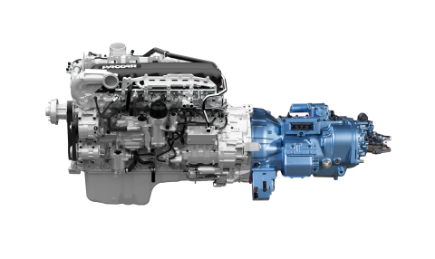 Kenworth now offers the Eaton Fuller Advantage(TM) 10-speed automated transmission as an option for the Kenworth T680 for long-haul or regional applications. The optimized power train combination of the PACCAR MX-13 Engine integrated with the Eaton Fuller Advantage(TM) transmission provides up to a 2 percent fuel efficiency enhancement. (Photo: Business Wire)