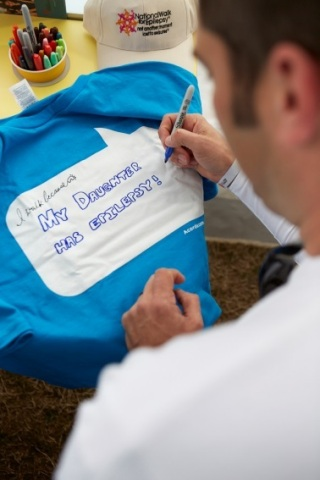 2014 National Walk for Epilepsy, Washington, DC, Sunday, March 22, 2014: I Walk Because(TM), part of the Acorda Community Outreach program, gives people a chance to tell their stories by decorating and personalizing t-shirts. (Photo: Business Wire)