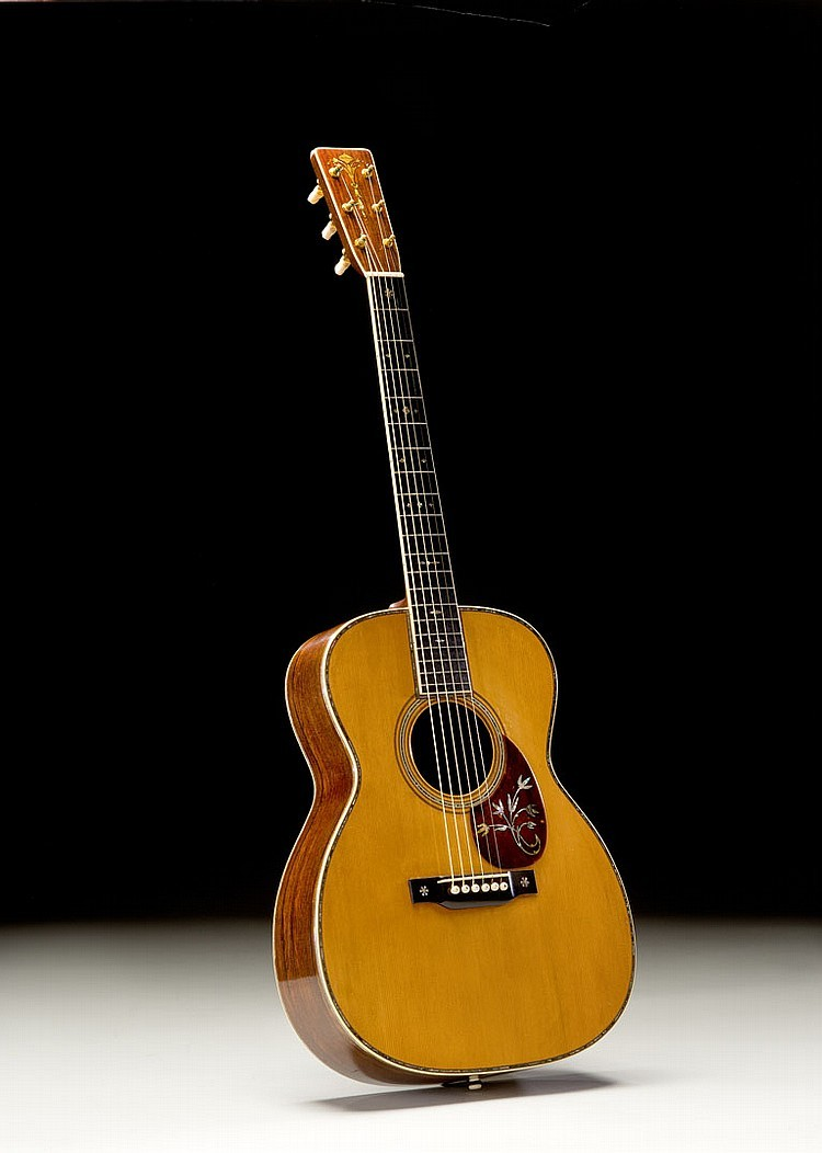 This 1930 Martin OM-45 Deluxe has been called one of the most desirable flattop guitars on the market today, and is estimated to sell for $2-2.5 million at auction by Guernsey's in New York City. (Photo: Business Wire)