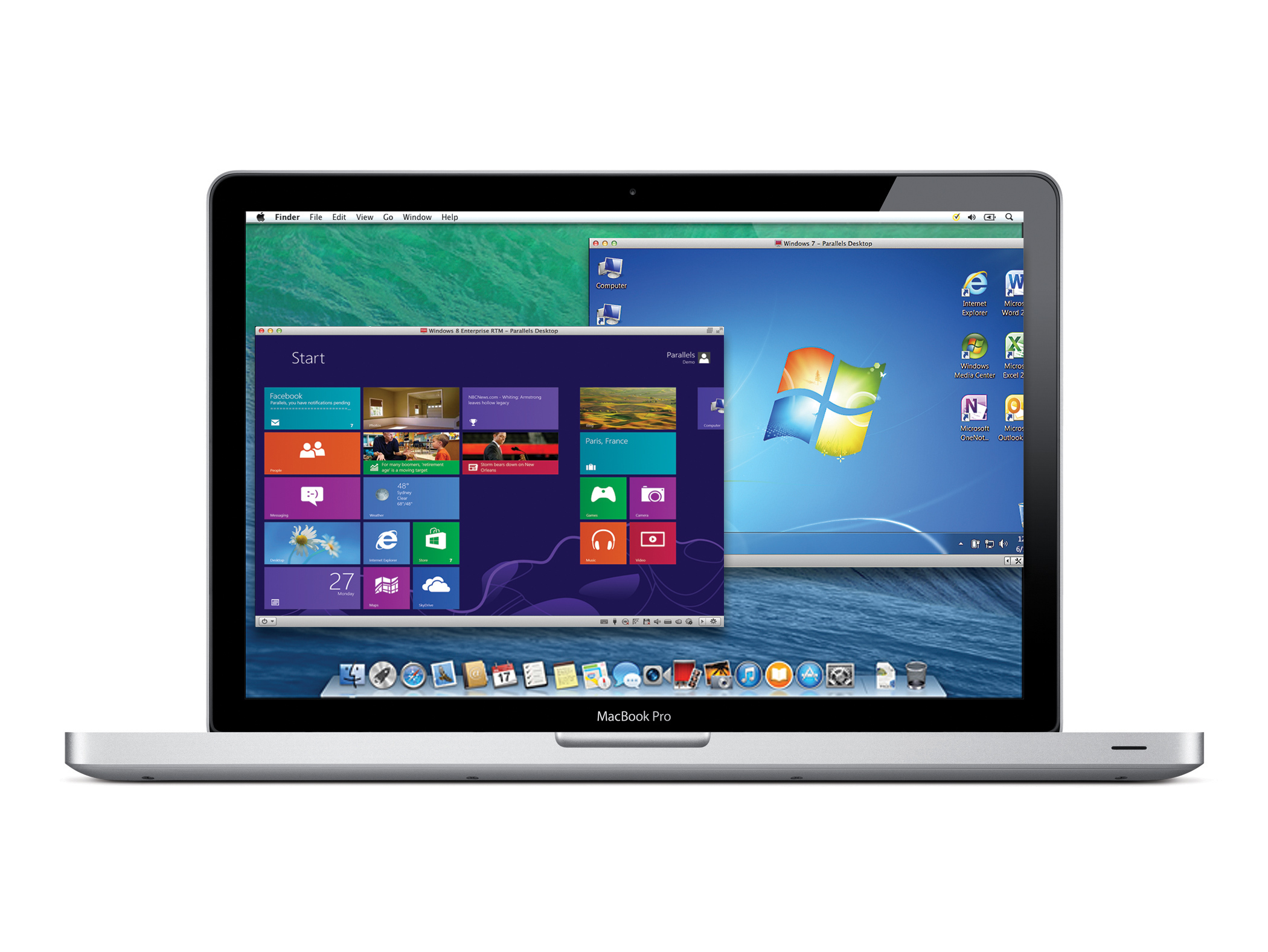 Parallels Desktop for Mac software lets you run Windows 7, Windows 8 and OS X Mavericks simultaneously on a Mac without rebooting. (Photo: Business Wire)