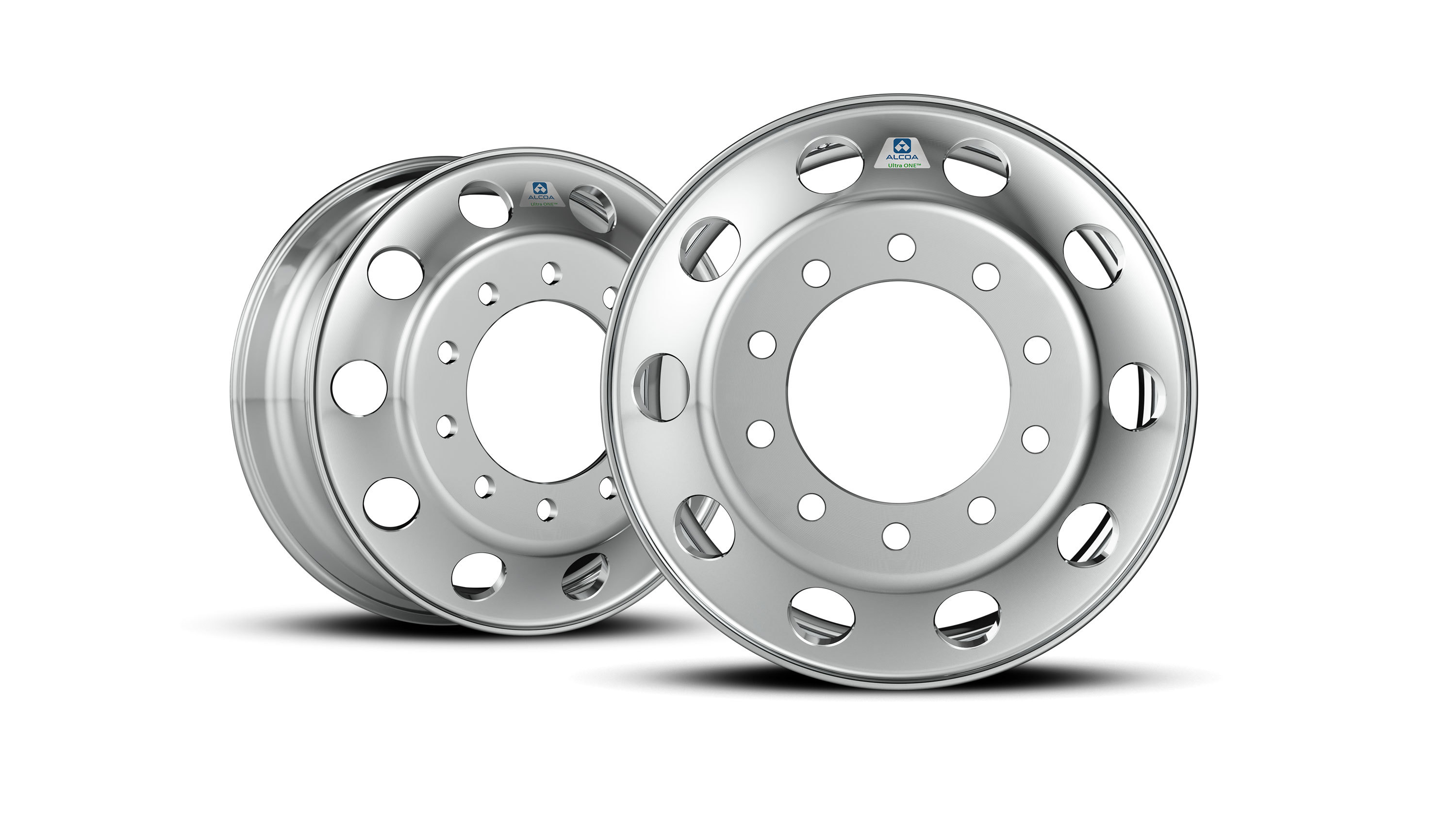Alcoa, the inventor and global leader of forged aluminum wheels, has rolled out the world's lightest heavy-duty truck wheel: The Ultra ONE™ forged aluminum wheel, shown here. (Photo: Business Wire)