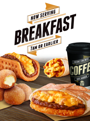 The wait is over. Taco Bell is now serving breakfast 7 a.m. or earlier. (Photo: Business Wire)