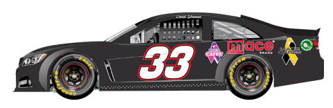 Mace has entered into a sponsorship agreement with Circle-Sport Racing and will be showcasing the Mace Cares ribbons on the #33 car at this years STP 500 NASCAR race at Martinsville, VA. (Graphic: Business Wire)
