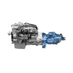 Eaton's optimized version of its Fuller Advantage Series 10-speed automated transmission -- paired with PACCAR's MX-13 engine for Kenworth and Peterbilt trucks in longhaul and regional haul applications - is expected to deliver up to 2 percent in fuel economy. (Graphic: Business Wire)