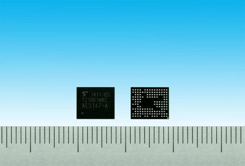 東芝:ウェアラブル端末向けアプリケーションプロセッサ「TZ1001MBG」(写真:ビジネスワイヤ)