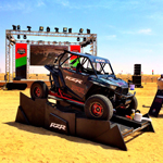 Setting up for Camp RZR UAE. (Photo: UTVUnderground.com)