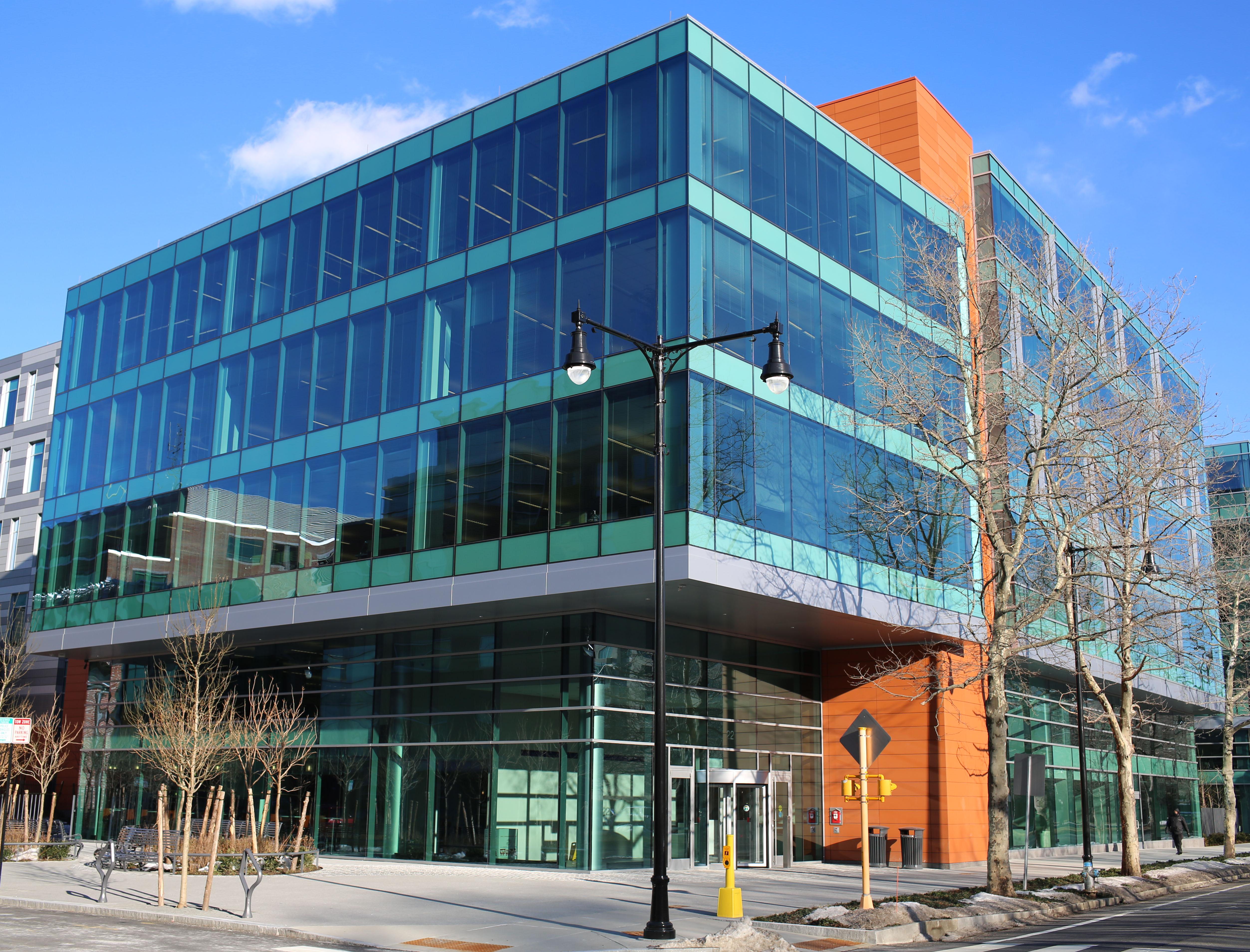 Biogen Idec's headquarters building, Cambridge, Mass. (Photo: Biogen Idec)