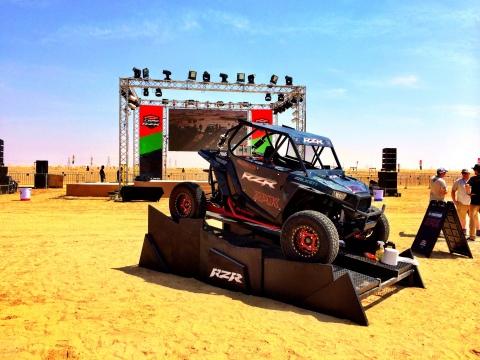 Setting up for Camp RZR UAE. (Photo: UTVUnderground.com)