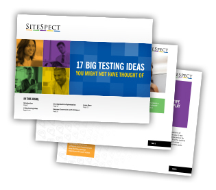 "SiteSpect's new e-book: ""17 Big Testing Ideas"" (Graphic: Business Wire)"
