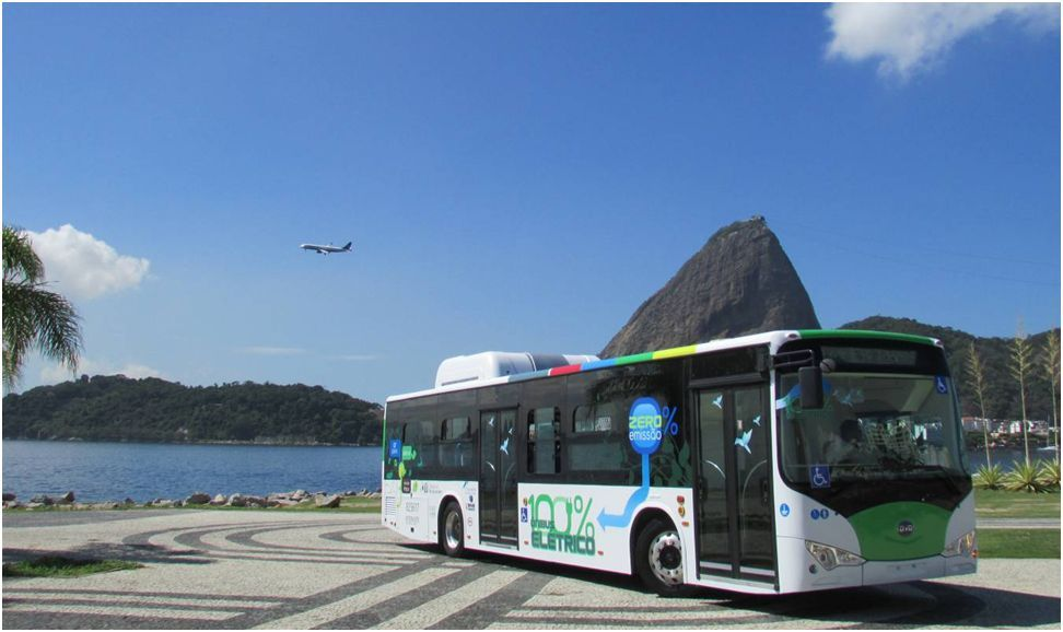The first long-range, zero-emissions bus in Rio -- the BYD 12 meter all-Electric bus (Photo: Business Wire)
