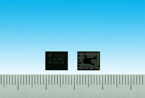 "Toshiba: ""TZ1001MBG"", an application processor for wearable devices (Photo: Business Wire)"