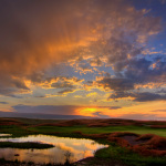Sunset over Huntsman Springs' award-winning golf course. (Photo: Tim Braun)