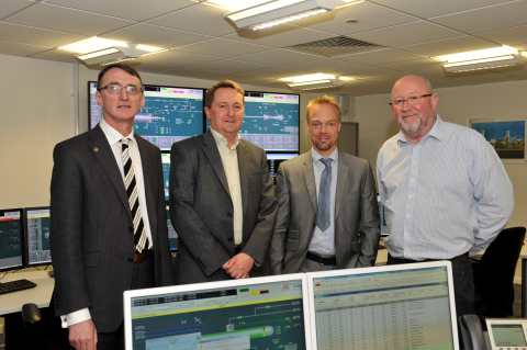 (L to R): Graham Wren (GSE), Kevin Nix (RWE), Thomas Carlsson (GSE), and Geoff Carr (RWE)