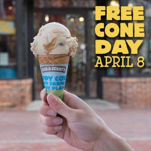 Ben & Jerry's Free Cone Day is April 8th, 2014!  (Photo: Business Wire)