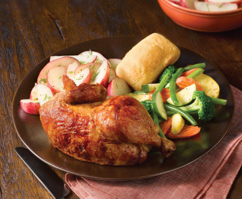 "Boston Market Offers Taxpayers Relief with ""Tax Day Deal Chicken Meal"" - Two Half-Chicken Individual Meals $10.40. (Photo: Business Wire)"