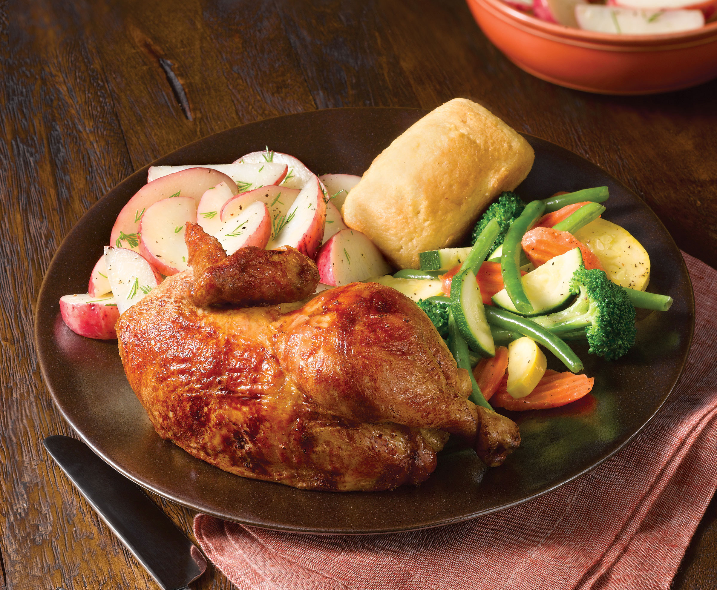 """Boston Market Offers Taxpayers Relief with """"Tax Day Deal Chicken Meal"""" - Two Half-Chicken Individual Meals $10.40. (Photo: Business Wire)"""