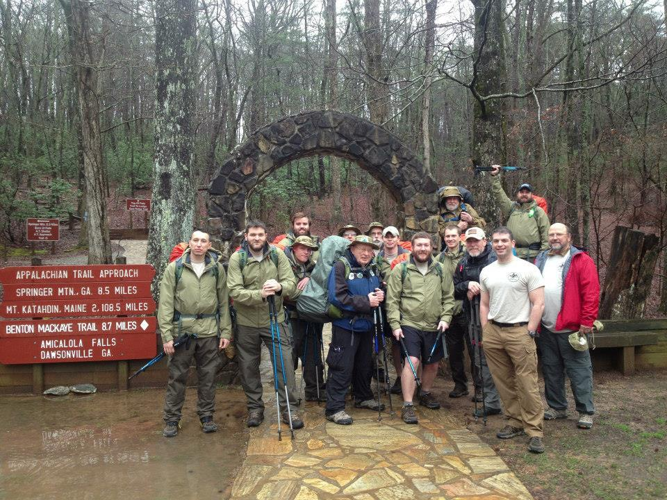Warrior Hike - Starting the Appalachian Trail at Amicalola Falls. (Photo: Business Wire)