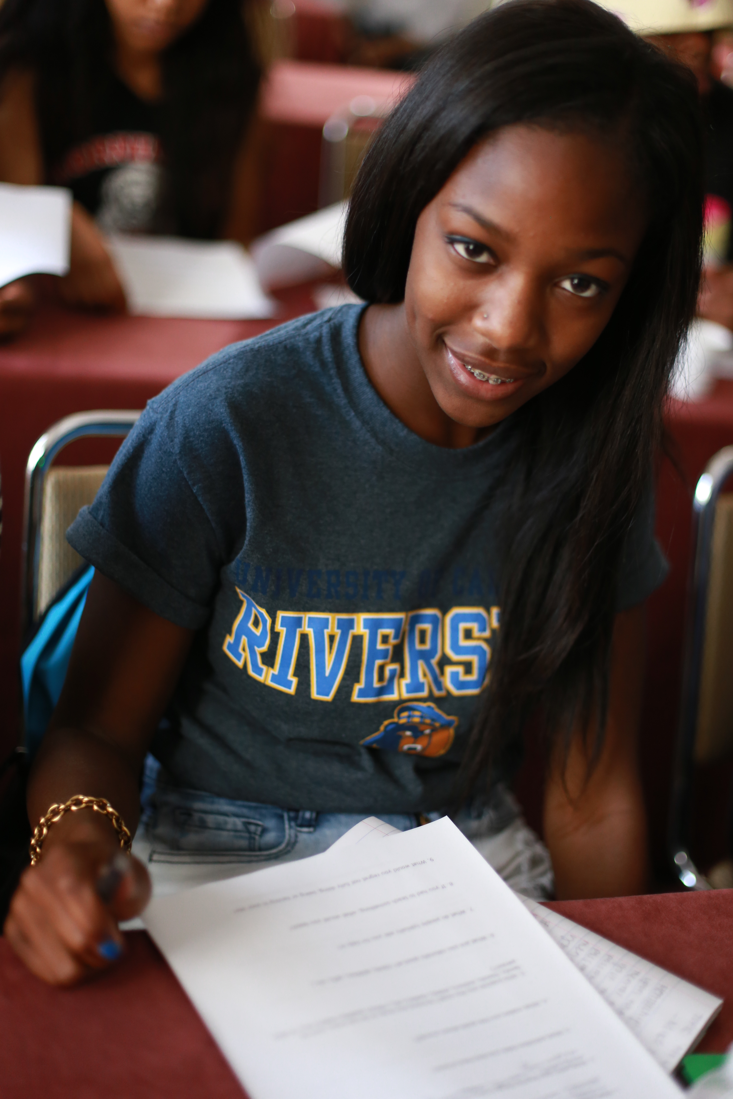 Courtney Logie, a College Access Plan participant, is now a freshman at the University of California in Riverside. (Photo: Business Wire)