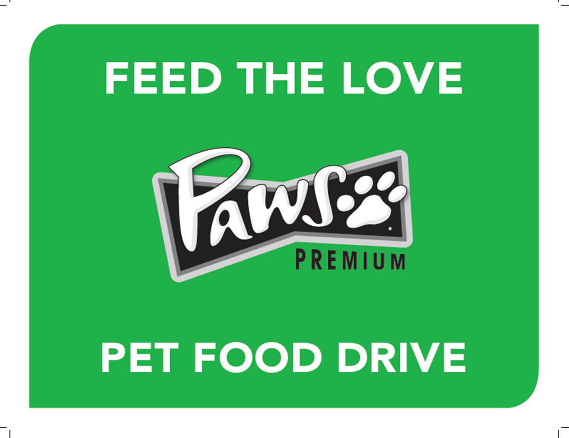 Help your community. Buy a $5 PAWS Feed the Love bag of pet food and we'll donate it to your local food bank. (Graphic: Business Wire)