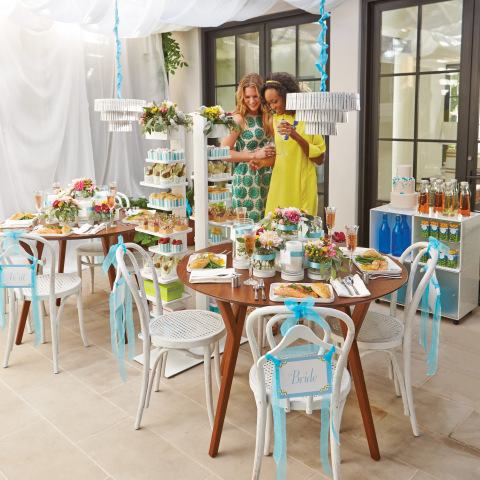 The new Bridal Shower Guide features ideas and DIYs for creating themed showers like this organized closet shower. (Photo: The Container Store)