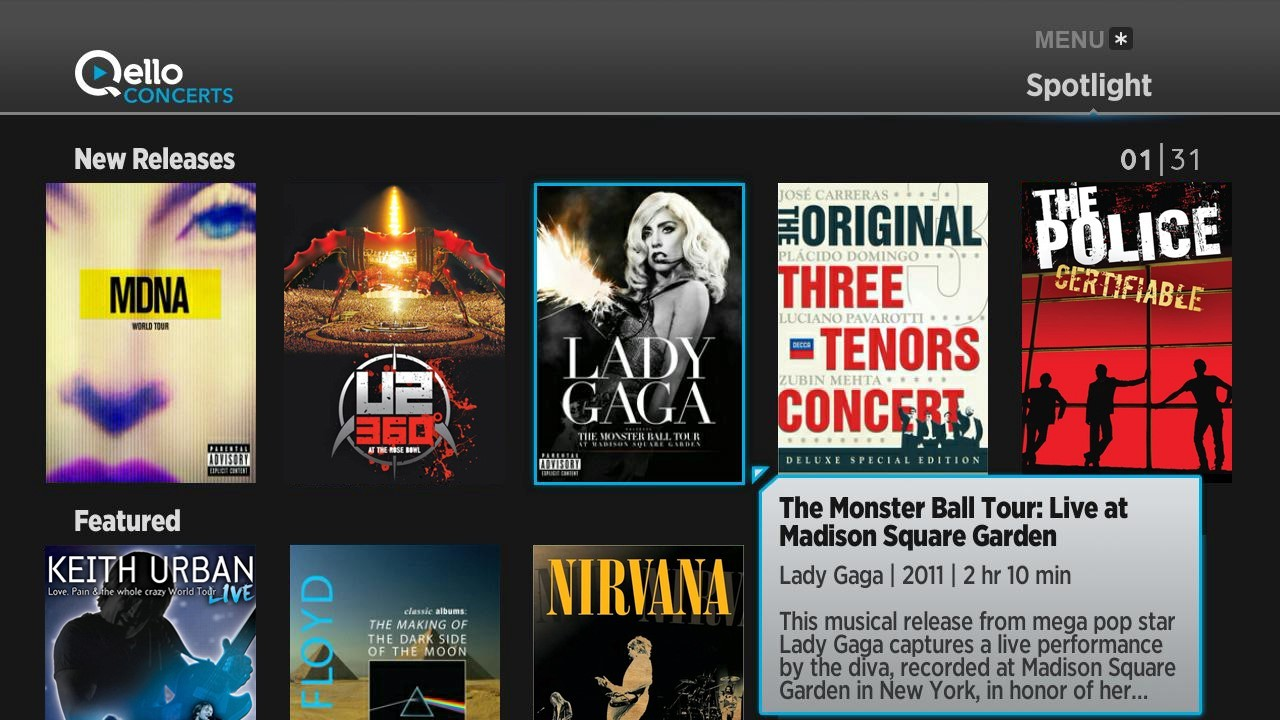 Qello Concerts channel on the Roku® Streaming Platform (Photo: Business Wire)
