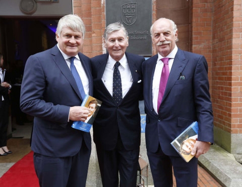 Left to right: Denis OBrien, Michael Smurfit and Dermot Desmond (Photo: Business Wire)