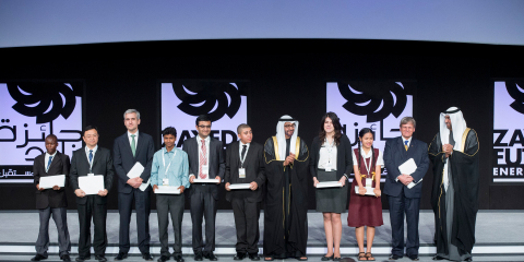 Zayed Future Energy Prize 2014 winners