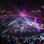 A sold-out crowd of 75,167 from all 50 states and 37 countries converged on the Mercedes-Benz Superdome in New Orleans for WrestleMania 30 (Photo: Business Wire)