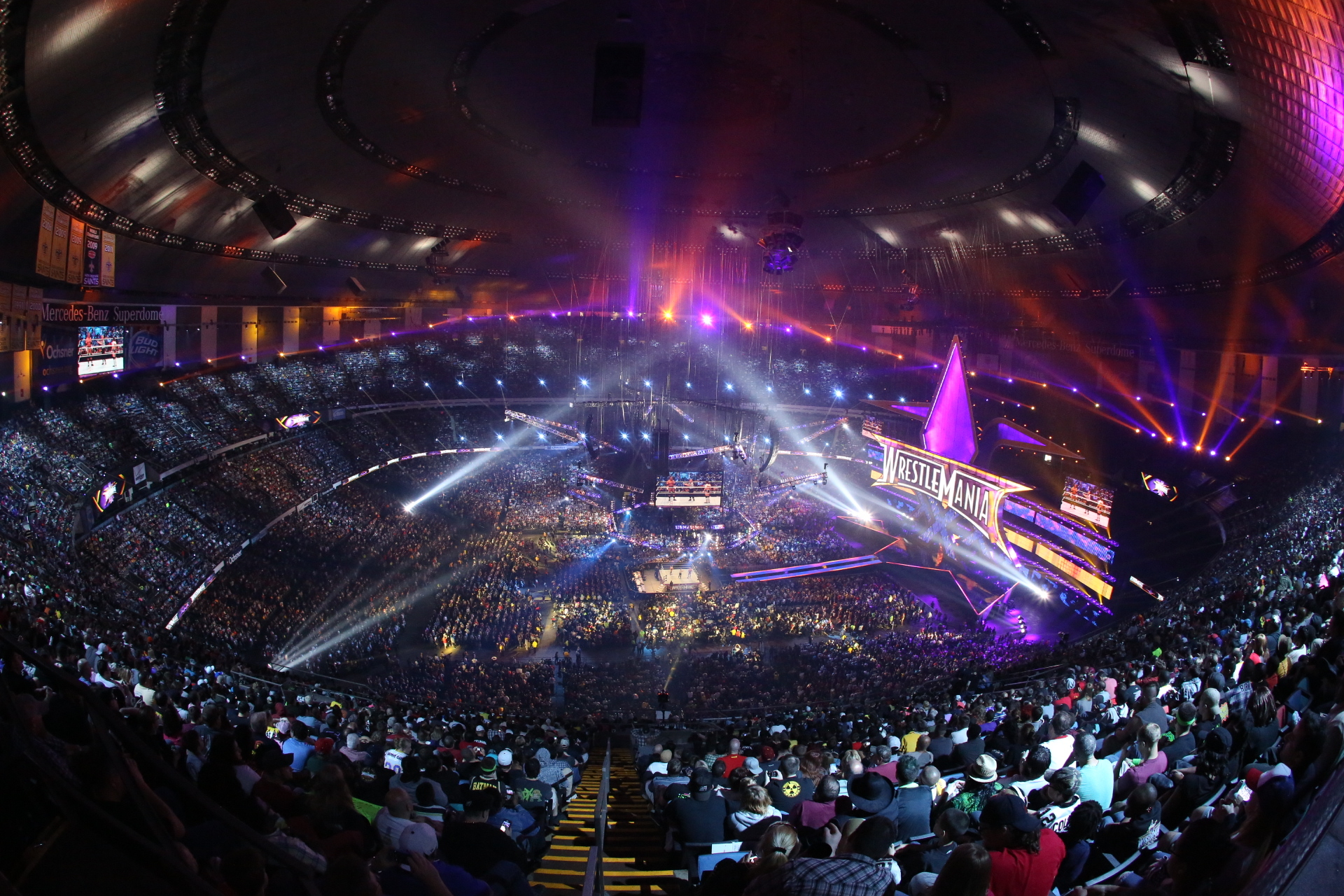 Wrestlemania breaks records business wire for Mercedes benz new orleans