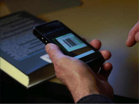 This Alpha Anywhere/HTML5 application is scanning a barcode to retrieve information about a book. Al ...