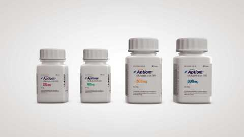 Sunovion Pharmaceuticals Inc. launches Aptiom (R) (eslicarbazepine acetate), a once-daily antiepileptic drug (AED) indicated for use as adjunctive treatment of partial-onset seizures. (Photo: Business Wire)