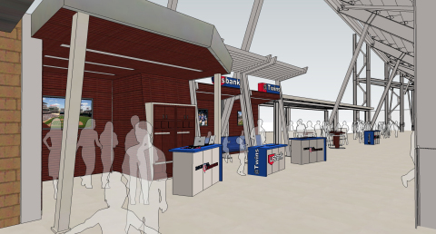 A rendering of the new Twins Digital Clubhouse presented by U.S. Bank. (Photo: Business Wire)