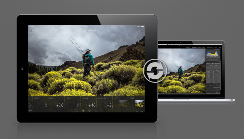 Automatically sync with Lightroom 5 on your desktop. (Photo: Business Wire)