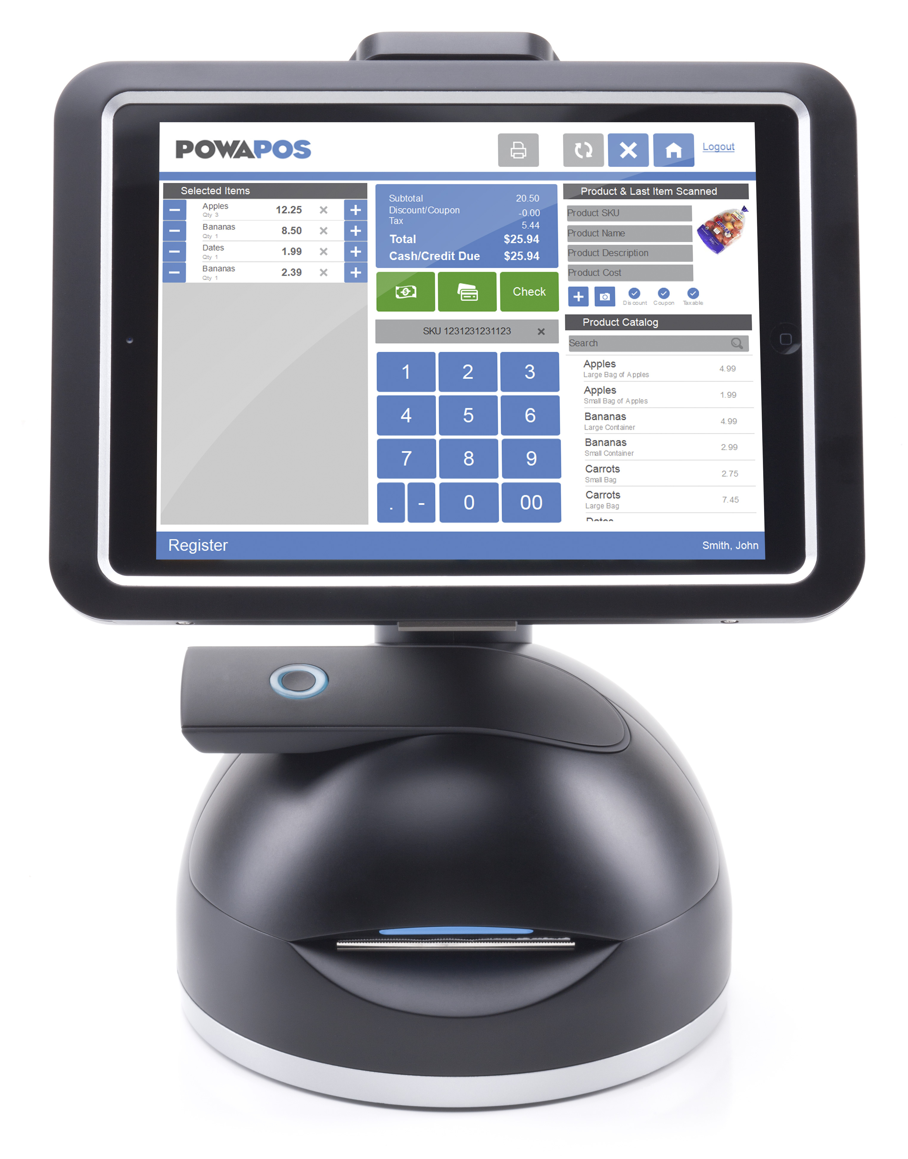 The PowaPOS T25, an all-in-one tablet-based POS series that integrates all industry-leading features in an attractive, space-saving form factor. (Photo: Business Wire)