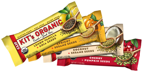 Kit's Organic Fruit + Seed Bars are now available at natural food stores and at ClifBar.com. [SRP $1.59] (Photo: Business Wire)