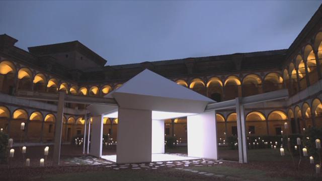 B-roll of the installation (night)