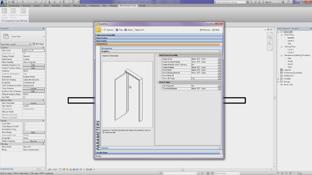 See how SuperDoor uses an intuitive step-by-step selection process to create a door assembly for use in Revit.