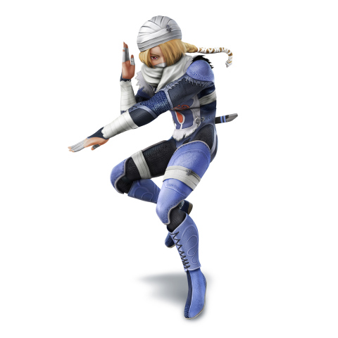 New concept art for Sheik, who joins the Super Smash Bros. roster as a separate character. (Graphic: Business Wire)