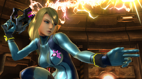 Zero Suit Samus joins the Super Smash Bros. roster as a separate character. (Graphic: Business Wire)