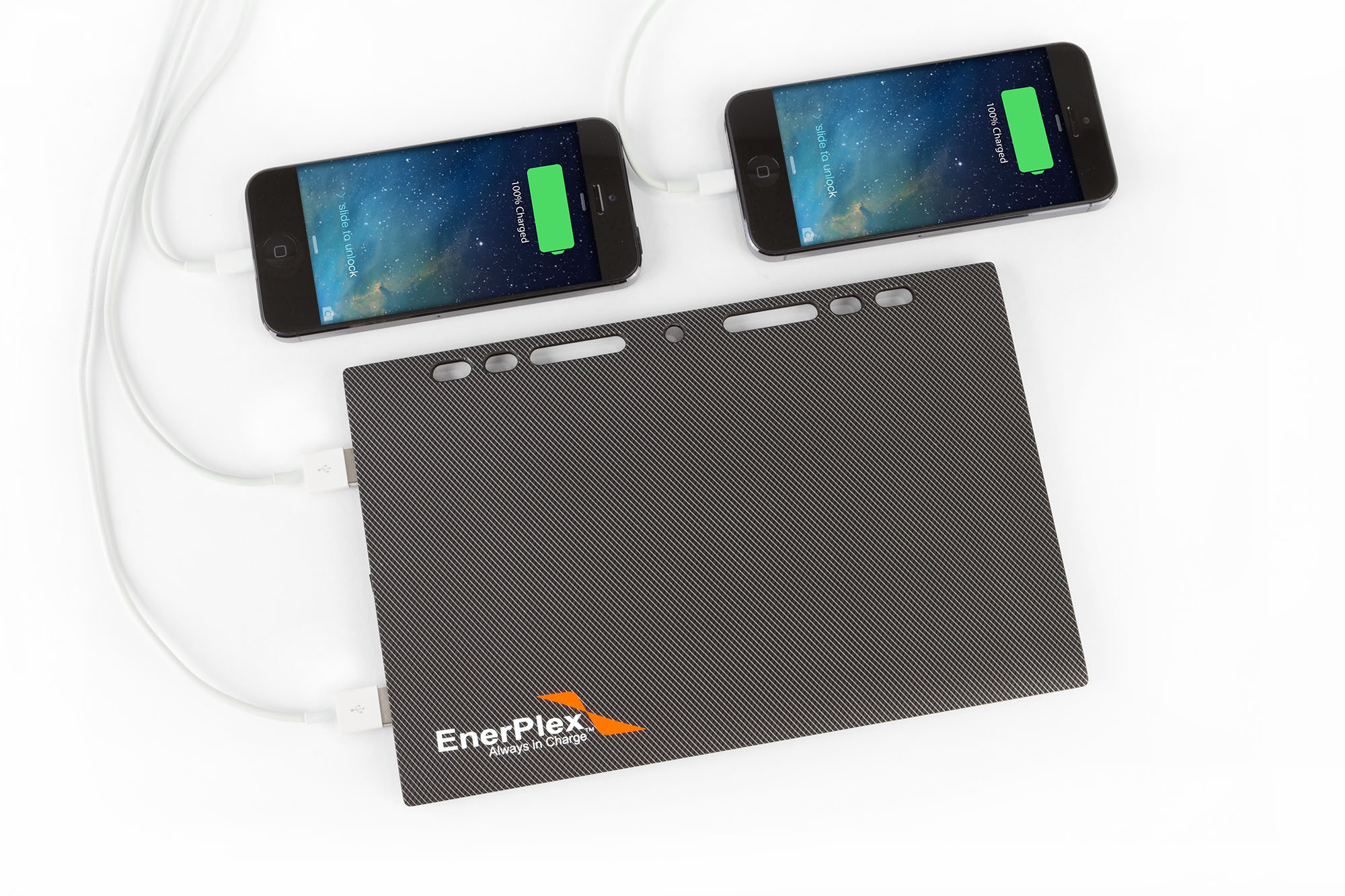 The Jumpr Slate 10k has dual 2.4amp USB outputs (Photo: Business Wire)