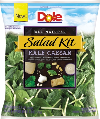 DOLE® Kale Caesar™ Kit combines powerfully nutritious greens with wildly popular Caesar taste. (AP Photo/Dole Fresh Vegetables)
