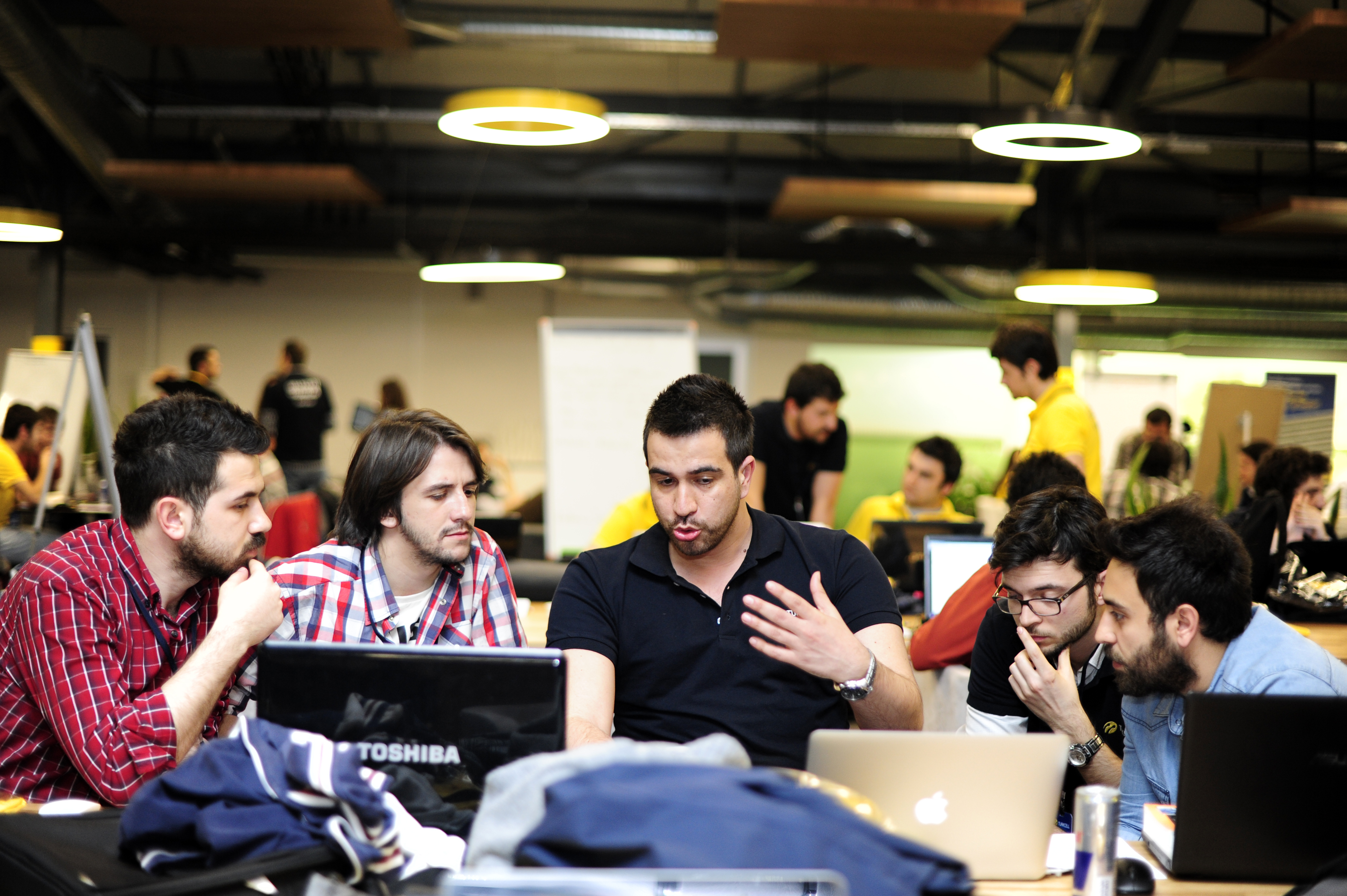 153 developers at Turkcell's App Marathon Coding Weekend took more than 200 selfies. More than 1600 cups of coffee and 960 slices of pizza helped them survive the intense work. (Photo: Business Wire)