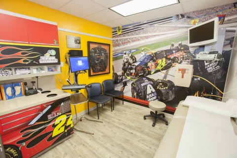"""Axalta Racing's """"Brilliant Flames"""" at the Children's Blood and Cancer Center, part of Dell Children's Medical Center (Photo: Business Wire)"""