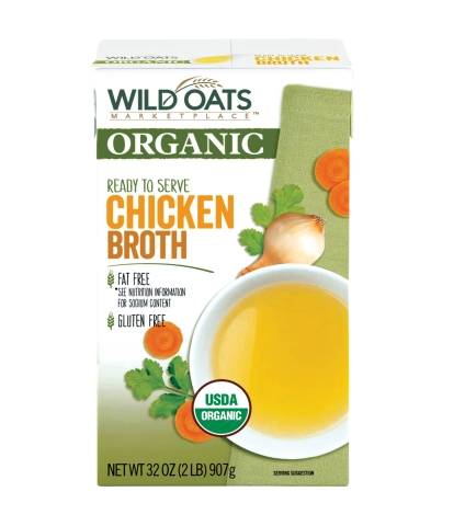 Wild Oats Marketplace Organic Chicken Broth (Photo: Business Wire)