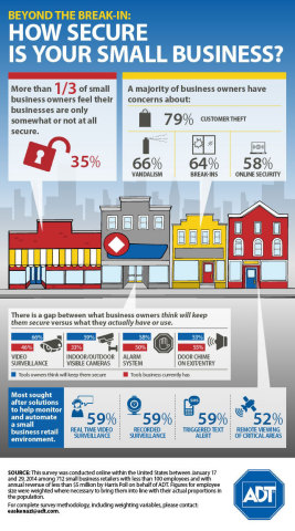 Beyond the Break-in: ADT Survey Reveals Small Business Retailers' Everyday Security Concerns (Graphic: Business Wire)