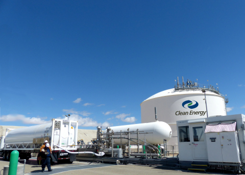 LNG loaded onto an ISO container at Clean Energy's liquefaction plant in Boron, Calif., for transpor ...