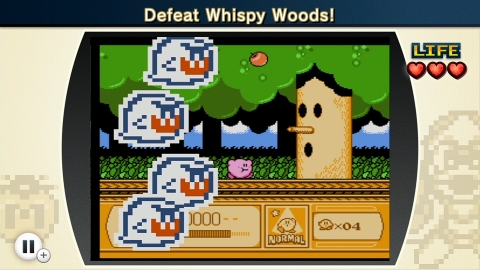 Kirby is caught between several Mario enemies and his foe – Whispy Woods. (Photo: Business Wire)